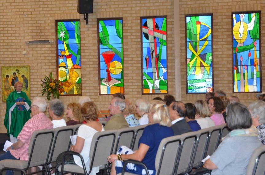 Lorna preaching at St Nics #2